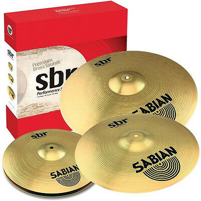 "Sabian SBr Performance SBR5003 Cymbal Set Pack (14"" Hats, 16"" Crash, 20"" Ride) on Rummage"