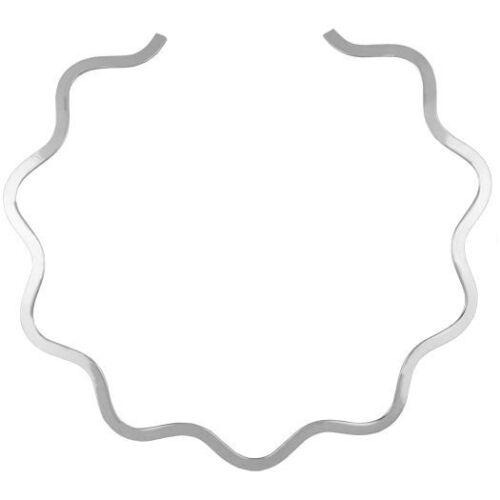 Artisan Alpaca Essential Silver Wave Choker Pendant Neck Band Collar Plain Lot