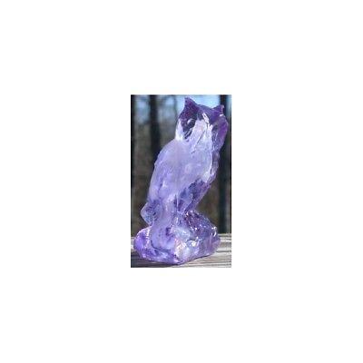 Boyd's Crystal Art Glass Boyd Owl CLOUDBERRY Made In USA 2004 Retired Few Left