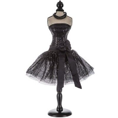 Decorative Black Mannequin Tulle Dress Form With Stand Home Decor New