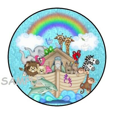 30 Noah's Ark Stickers 1.5