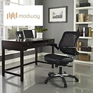 NEW OB MODWAY MESH OFFICE CHAIR BLACK LEATHERETTE 100703272