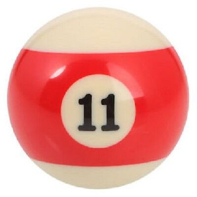 "GRG New 2.25"" Number 11 Ball - Regulation Size Billiard Pool Replacement  - Red Stripe at Sears.com"