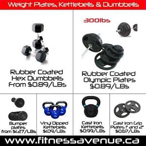 Dumbbells Weight Plates Bumper Plates Kettlebells - Brand New