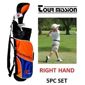 NEW TM 5PC YOUTH RIGHTHAND GOLF SET - 114003345 - TOUR MISSION UNISEX RIGHT HAND