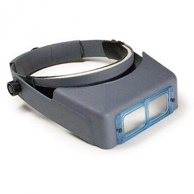 Donegan Optivisor Headband Magnifier - Donegan OptiVISOR® Headband Magnifier DA-5, 2-1/2X, 8  WITH GLASS LENSES