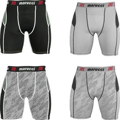Sliding Pad Short - Marucci Adult Men's Padded Baseball Sliding Shorts MASL-W Padding Slider Short
