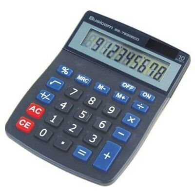 Single Desktop Solar Powered 10 Digit Calculator BS-8930ECO by Busicom