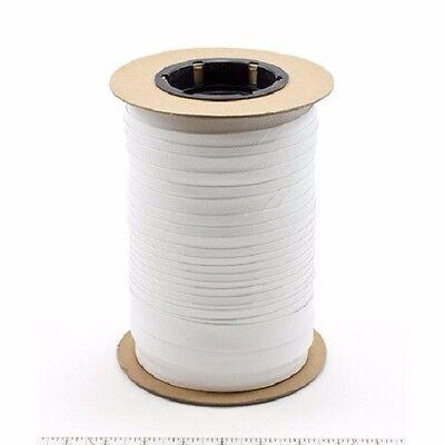 "Marine Vinyl Binding 0.75"" wide x 100 yds - White - Washable, Bias Cut, No Fray"