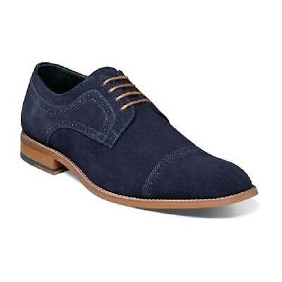 Stacy Adams Dobson Summer Mens Shoes Navy Suede Cap toe oxford Casual  25093-415 ()