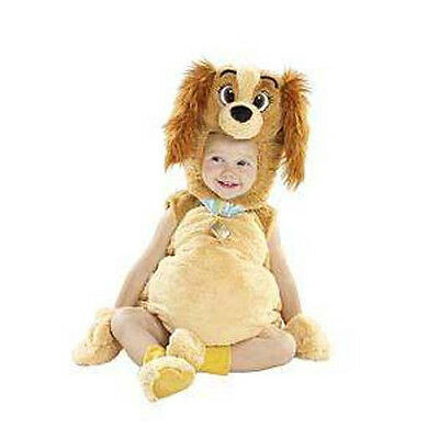 NWT DISNEY Lady and the Tramp Toddler Costume 6-12 mo 6 9 12 Halloween