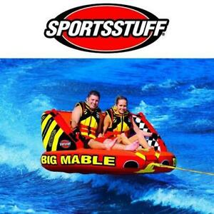 NEW BIG MABLE TOWABLE INFLATABLE 55-2213 248947371 SPORTSSTUFF 1-2 RIDERS DUAL TOW POINTS FRONT AND BACK BACK REST