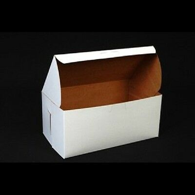 10 Count White 9x5x4 Bakery Or Cake Box