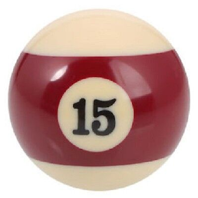 "GRG New 2.25"" Number 15 Ball - Regulation Size Billiard Pool Replacement  - Maroon Stripe at Sears.com"