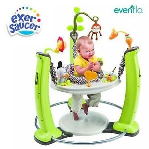 NEW EVENFLO EXERSAUCER JUMP  LEARN JUMPER Jungle Quest 108775526