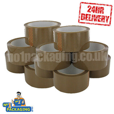 36 Rolls Of Strong Brown buff Parcel Tape Packing 48mm x 66m boxes bubble wrap