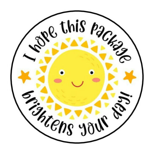 """30 1.5"""" THANK YOU SUN STICKERS ENVELOPE SEALS ROUND STICKERS FAVOR LABELS"""