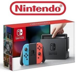 RFB NINTENDO SWITCH GAME CONSOLE HAC-001 210603637 32GB CONSOLE NEON BLUE AND RED JOY CON EDITION REFURBISHED