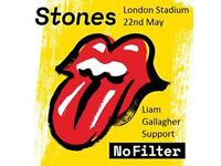 The Rolling Stones tickets including coach from Bournemouth to London and return the 22 May