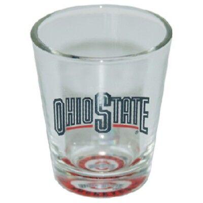 Buckeyes Shot Glass OSU Ohio State New Bullseye Logo