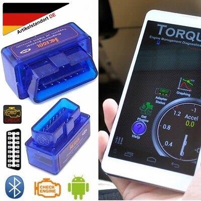 Gebraucht, Blau ELM 327 V2.1 Bluetooth OBD 2 Car Diagnostic Scanner für Torque VW BMW BENZ gebraucht kaufen  Deutschland