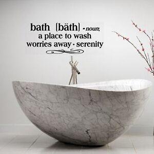 Bath definition words bathroom vinyl decor decal wall for Decor definition