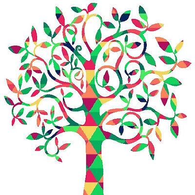 30 Custom Mosaic Tree Personalized Address Labels
