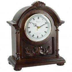 BEDFORD Collection*WOOD Dark Finish*MANTEL MANTLE DESK SHELF Clock*with 4 CHIME