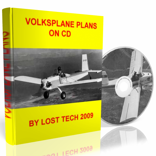 ULTRALIGHT AIRPLANE VOLKSPLANE VP2 PLANS ON CD