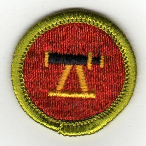 Surveying Merit Badge, Type G, Cloth Back (1961-71), Mint