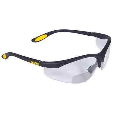 Dewalt Bifocal Reading Safety Glasses Clear Lens 2.0 Rx Reader Dpg59-120d