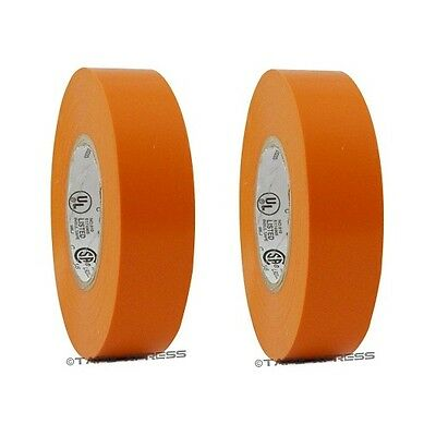 2 Roll Orange Vinyl Pvc Electrical Tape 34 X 66 Flame Retardant Free Shipping