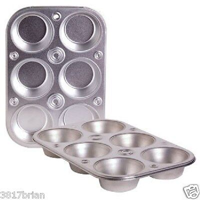 6 cup heavyweight steel bakeware muffin cooking