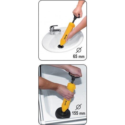 Pistole DUSCHE WC Rohrreinigung Abflussreiniger Abflussrohr Reinigungs-Pumpe o