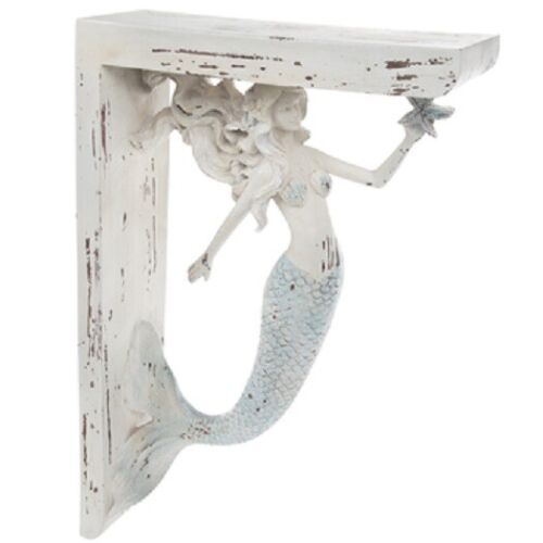 MERMAID CORBELS LARGE RUSTIC CORBELS / BRACKETS NAUTICAL  BEACH & SEA Set Of 2