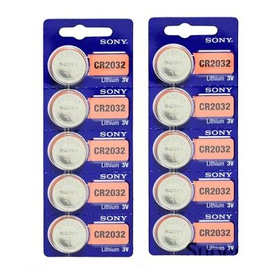 10 Pack SONY CR2032 3V Lithium Coin Battery - Tracking Inclu
