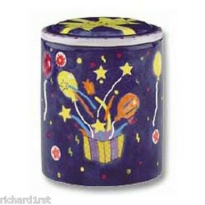 - Ceramic Canister Cookie Snack Jar Happy Birthday NEW