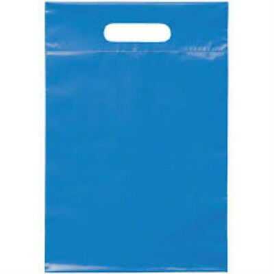 Merchandise Gift Bags Die Cut Handle Bags Small-medium Size Blue 12x15 100 Ct