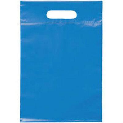 Merchandise Gift Bags Die Cut Handle Bags Small-medium Size Blue 12x15 100 Ct