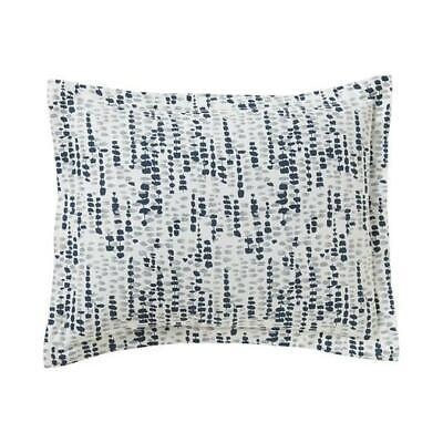DWELL STUDIO LUCIENNE 2 KING PILLOW SHAMS BLUE NEW