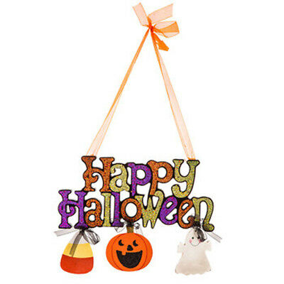 HL Halloween Decor - Happy Halloween Glitter - Happy Halloween Glitter Sign