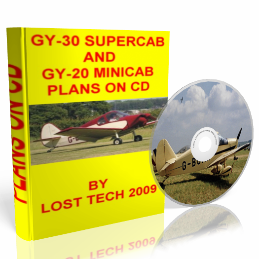 BUILD YOUR OWN ULTRALIGHT AIRPLANE  GY-30 SUPERCAB AND GY-20 MINICAB PLANS ON CD