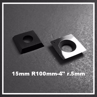 """15mm Sq R100 -4"""" Carbide Cutter insert fits Ci1 Easy Wood Tools R4 Rockler &more"""
