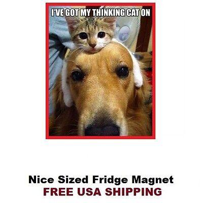 - 233 - Funny Cat Humorous Refrigerator Fridge Magnet