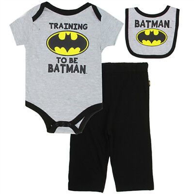 Kids with Character Batman Baby 3 Piece Outfit