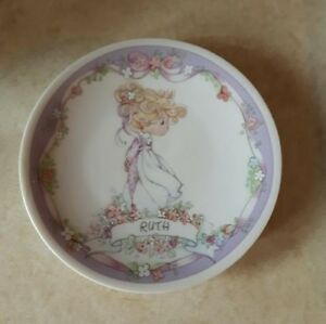 "Vintage 1991 Precious Moments Plate - 4"" - ""Ruth"" (EUC)"