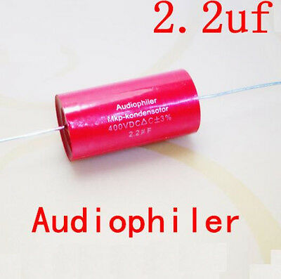 2pcs Mkp Audiophiler Capacitor For Tube Amps 2.2 Uf 400v