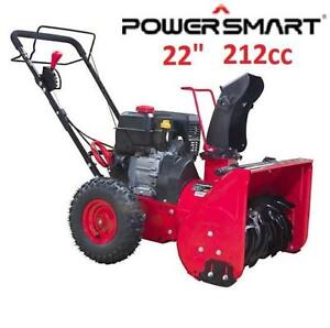 "NEW* POWERSMART 22"" GAS SNOW BLOWER DB7659H-22 224526761 SNOWBLOWER 2-STAGE MANUAL START WINTER"