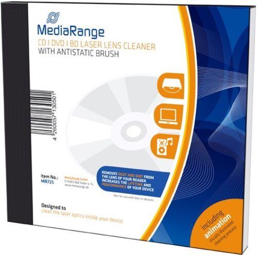MediaRange Laser Reinigungs Disk antistatischer Bürste für CD/DVD/BD Laufwerke