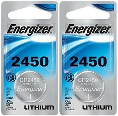 2 x Super Fresh Energizer CR2450 ECR 2450 3v LITHIUM Coin Cell Battery Exp. 2026